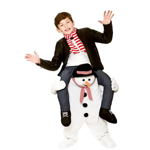 Childrens Carry Me- Snowman Costume Unisex Christmas Fancy Dress